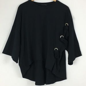 Zara hi low oversized top